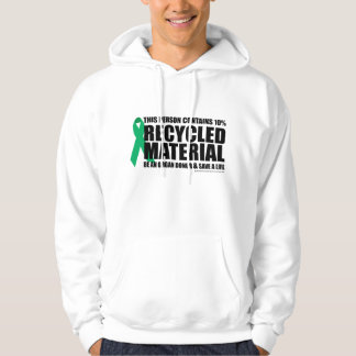 Organ Donor Recycled Material Hoodie