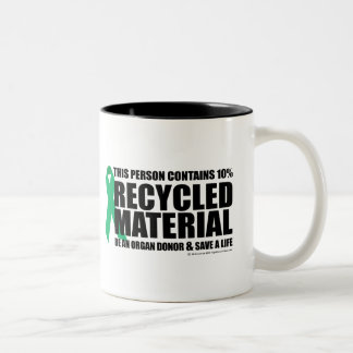 Organ Donor Recycled Material Two-Tone Coffee Mug