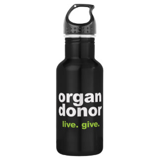 organ donor stainless steel water bottle