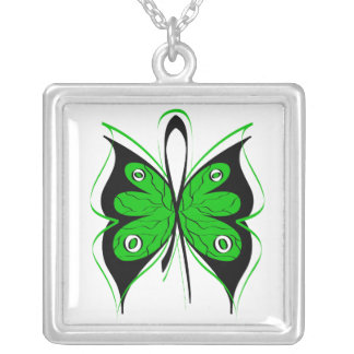 Organ Donor Stylish Butterfly Awareness Ribbon Necklaces