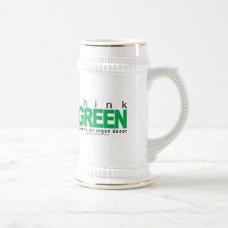 Organ Donor THINK Green Mug