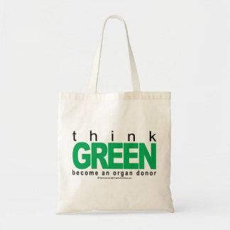 Organ Donor THINK Green Tote Bag