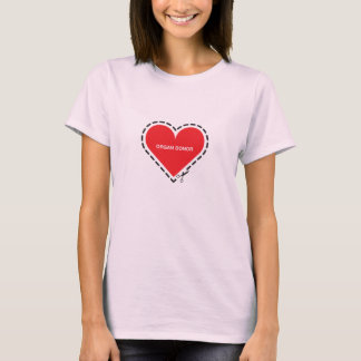 Organ Donor Women's Pink Fitted T-shirt
