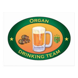 Organ Drinking Team Post Cards