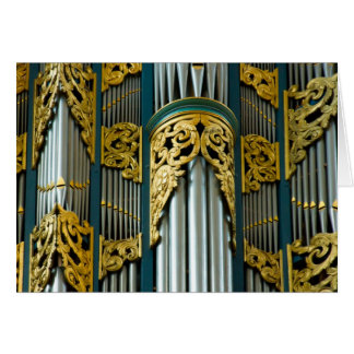 Organ, Groningen, Netherlands greeting card