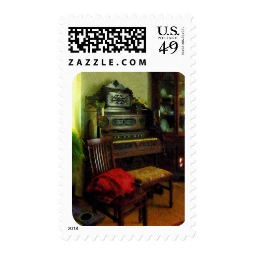 Organ in Parlor Stamp