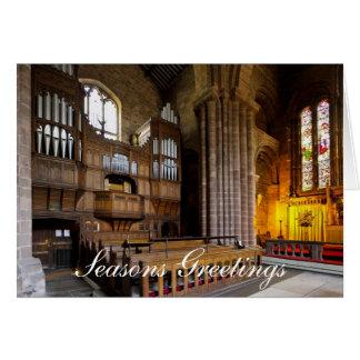 Organ in St John's Church, Chester, England Greeting Card