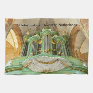 Organ in St Lebuinuskerk Deventer Towels