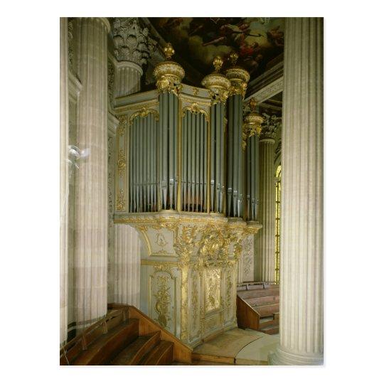 Organ in the chapel postcard