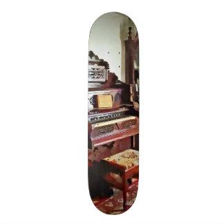 Organ in Victorian Parlor With Vase Skate Decks