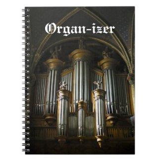 Organ-izer notebook