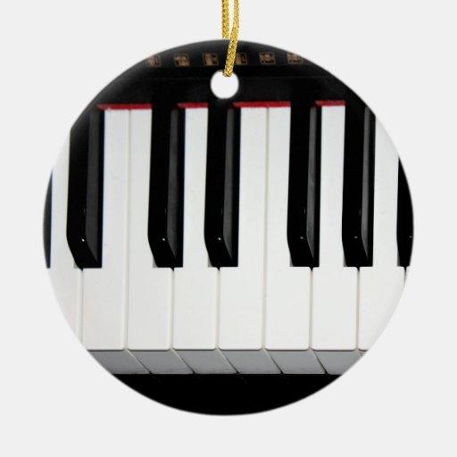 Organ Keyboard Ceramic Ornament