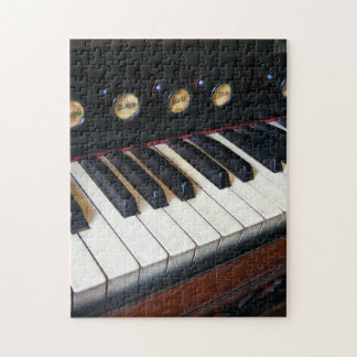 Organ Keyboard Closeup Jigsaw Puzzle