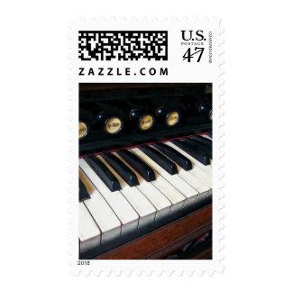 Organ Keyboard Closeup Postage