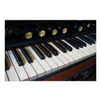 Organ Keyboard Closeup Poster
