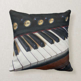 Organ Keyboard Closeup Throw Pillow