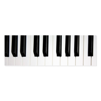 Organ Keyboard Double-Sided Mini Business Cards (Pack Of 20)