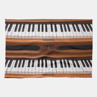 Organ keyboard kitchen towel