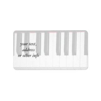 Organ Keyboard Label