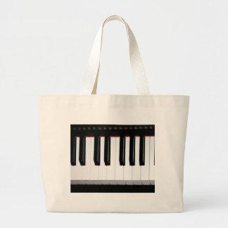 Organ Keyboard Large Tote Bag