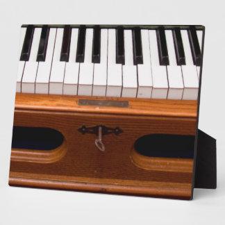 Organ keyboard photo plaques