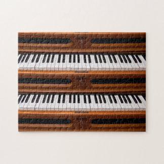 Organ keyboard jigsaw puzzles