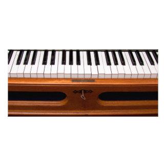 Organ keyboard customized rack card