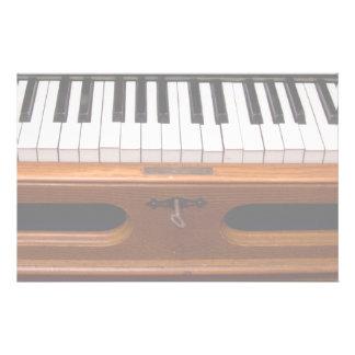 Organ keyboard customized stationery
