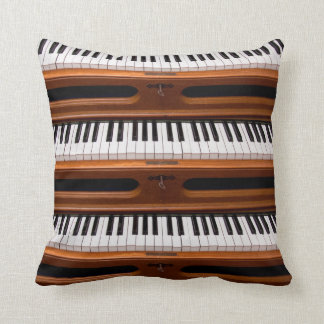 Organ keyboard throw pillow