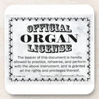 Organ License Beverage Coaster