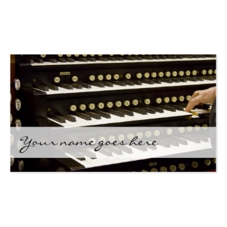 Organ manuals and hand business cards