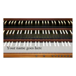 Organ manuals business cards - reverse