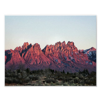 """Organ Mountains Double Sunset 8.5""""x11"""" Poster"""