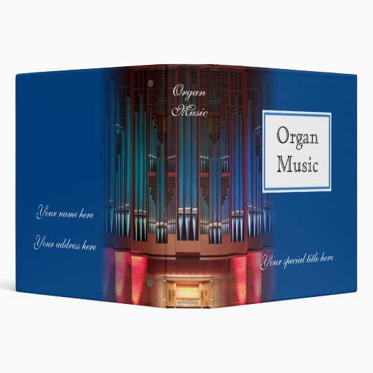 Organ music binder - blue 1.5 inch