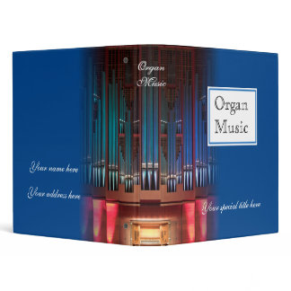 Organ music binder - blue 1 inch
