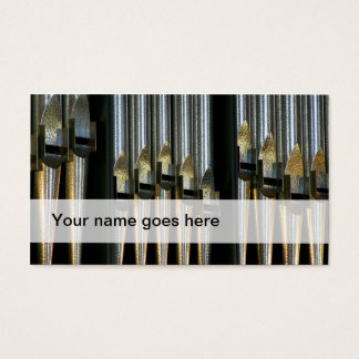 Organ music business cards