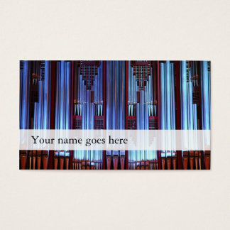 Organ music business cards - concert hall pipes