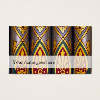 Organ music business cards - decorated pipes