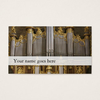 Organ music business cards - Montpellier cathedral