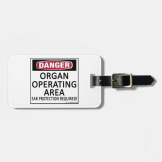 Organ Operating Area Travel Bag Tag