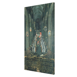 Organ panel  ,The Sitting of the Council Canvas Print