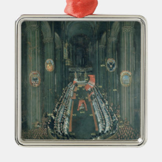 Organ panel  ,The Sitting of the Council Metal Ornament