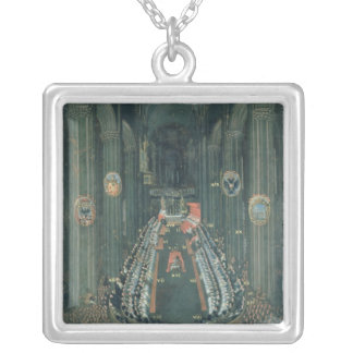 Organ panel  ,The Sitting of the Council Silver Plated Necklace