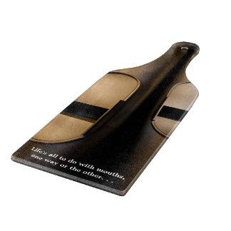 Organ pipe mouths cutting board