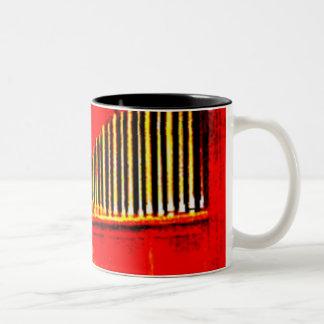 Organ Pipes Abstract Two-Tone Coffee Mug