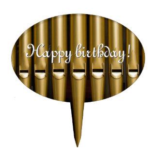Organ pipes birthday cake topper