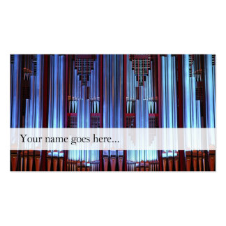 Organ pipes business card - decorated pipes