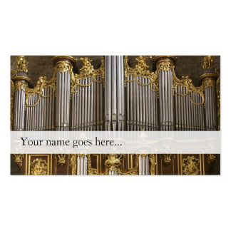Organ pipes business card - Montpellier
