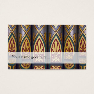 Organ pipes business card - painted