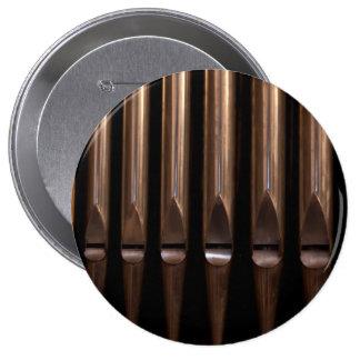 Organ pipes pinback button